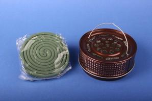 Favorit Halter für Insekten-Spirale aus Metall Mückenspirale Moskitospirale Anti-Mückenspirale antik (bronzefarben)