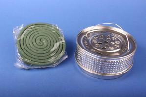 Favorit Halter für Insekten-Spirale aus Metall Mückenspirale Moskitospirale Anti-Mückenspirale (silberfarben)