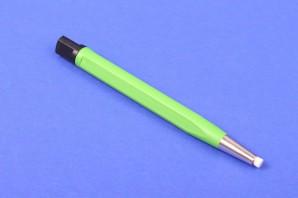 Glasfaserradierer Glasfaserstift Polierstift 4 mm grün Metallspitze