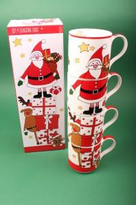 "Henkelbecher-Set ""Santa & Friends"""