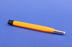 Glasfaserradierer Glasfaserstift Polierstift 4 mm orange Metallspitze