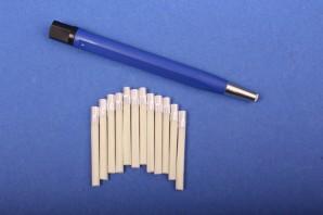 Set Glasfaserradierer 4 mm blau + 12 Glasfaser-Ersatzpinsel