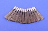 12 Stahldraht VA Ersatzpinsel 4 mm Glasfaserradierer