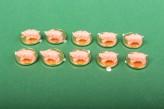 10x Glückscent Ferkel Glücksbringer Hochzeit Tischdeko Geschenk vergoldet
