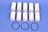 10/3 Heizölfilter Filz Sieb Ölfilter 10 Stück + 3x O-Ring