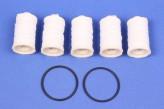 5/2 Heizölfilter Filz Sieb Ölfilter 5 Stück + 2x O-Ring