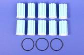10/3 Heizölfilter Siku Sieb blau Ölfilter 10 Stück + 3x O-Ring
