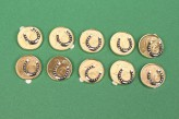 10x Glückscent Hufeisen Glücksbringer Silvester Tischdeko Geschenk vergoldet