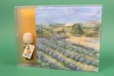 Raumduft + Servietten Geschenkset Duftöl Weihnachtsgeschenk Geschenk Lavendelfeld