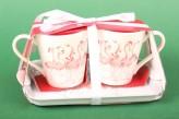 "Henkelbecher Set Mug & Tray ""Flamingle Bells"""