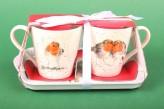 "Henkelbecher Set Mug & Tray ""Winter Friends"""